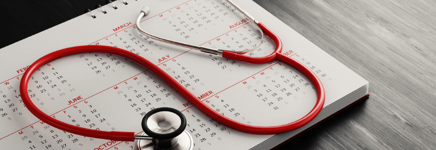 Stethoscope and calender