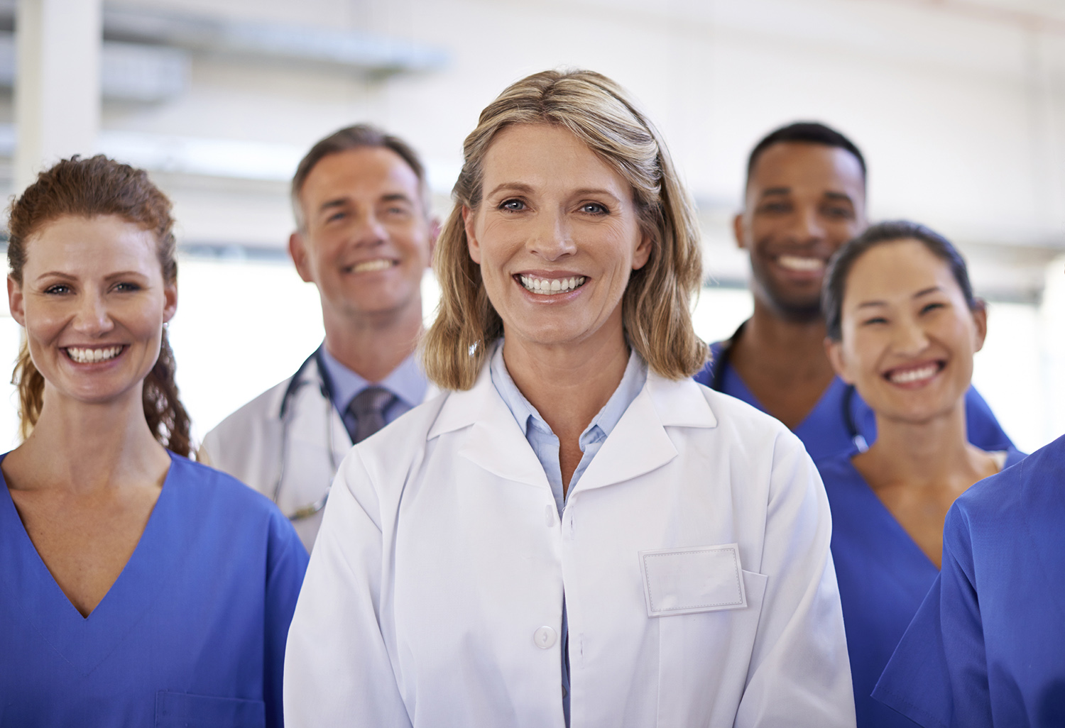 Portrait of a diverse team of medical professionals
